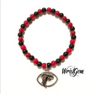 WristGem Atlanta Falcons Football Bracelet.